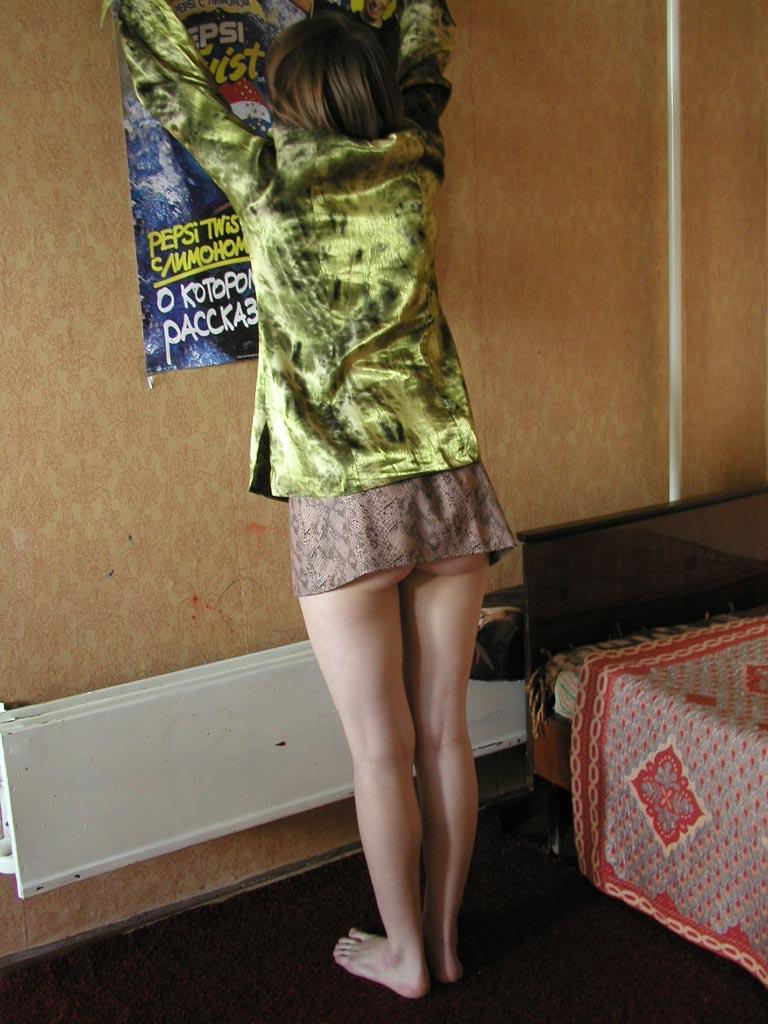 Voyeur public mini skirt