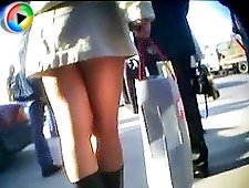 4 movies - Fascinating girl in sexy panties caught on hidden camera. See more upskirt pics