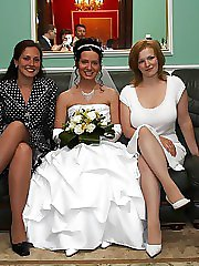 21 pictures - Naughty Brides upskirt photos