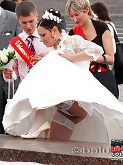 12 pictures - One of the hottest bride upskirts ever