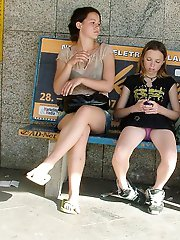 12 pictures - Shameless and funny upskirt girls