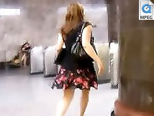 4 movies - Seductive girl in a miniskirt caught on cam. Watch hot video clips