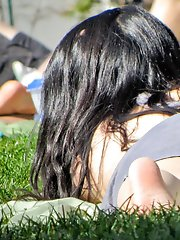 12 pictures - Upskirting asian hottie in public place. Asian upskirt