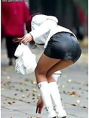 24 pictures - True upskirt pictures taken on city streets